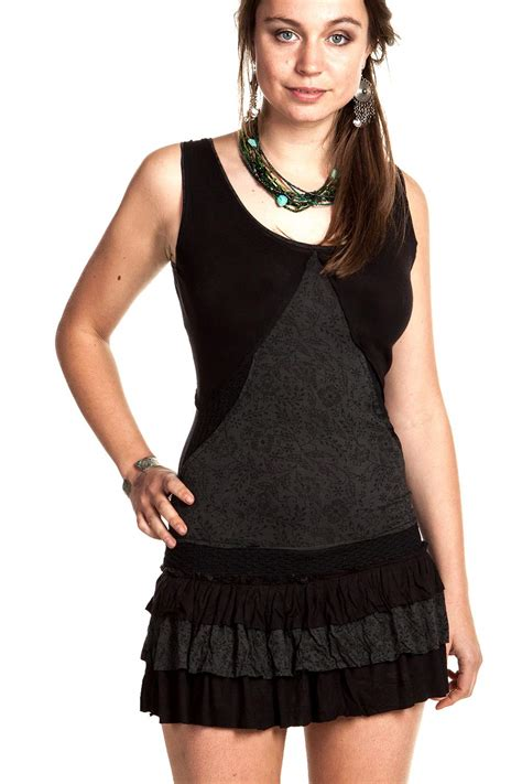Bag Doff 28 Black woodland spirit minidress doof hippie pixie summer dress