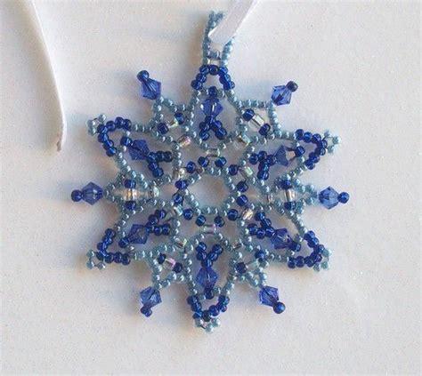 snowflake bead pattern bead snowflake holidays pinterest