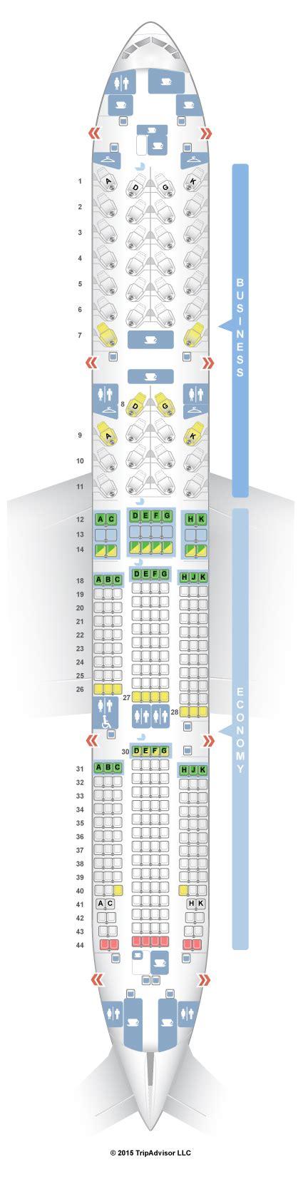seatguru seat map air canada boeing 777 200lr 77l two class