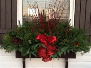 christmas window boxes garden gates pinterest