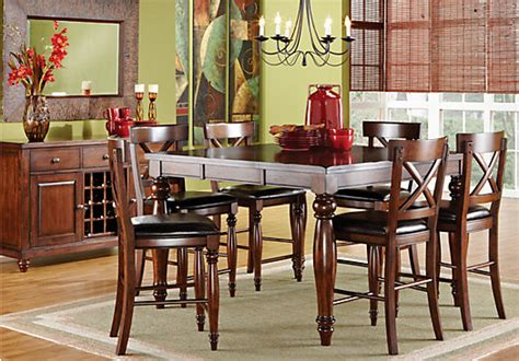 Rooms To Go Dining Tables Calistoga Raisin 7pc Counter Height Dining Room Dining Room Sets
