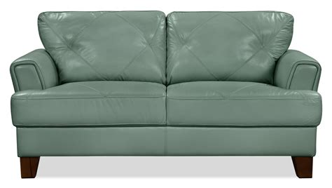 genuine leather sofa and loveseat vita 100 genuine leather loveseat sea foam the brick
