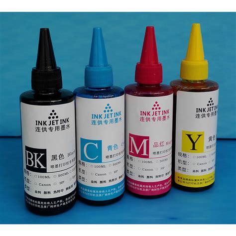 Refill Tinta Printer Ink Refill Bottle For Canon Dell Hp Printer Ink Cartridges 100ml Tinta Printer Black