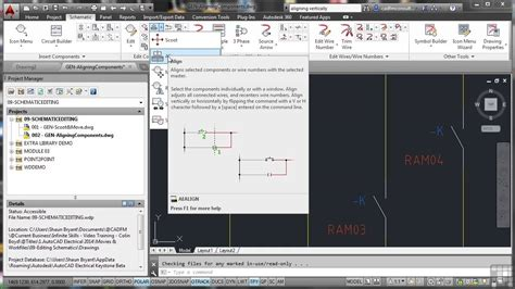 tutorial autocad for electrical autodesk autocad electrical 2014 tutorial aligning