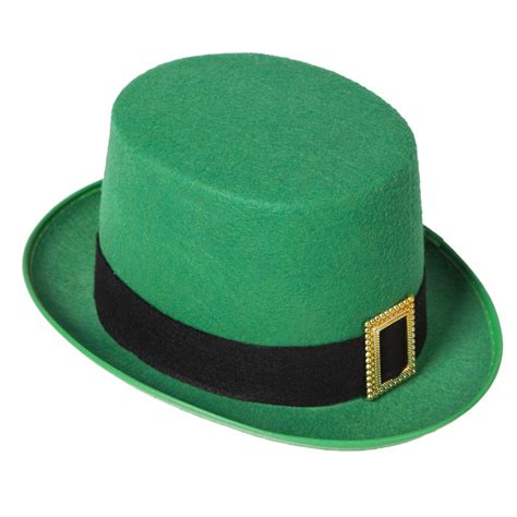 How To Make A Leprechaun Hat Out Of Paper - pack of 6 green leprechaun top hats st patricks day