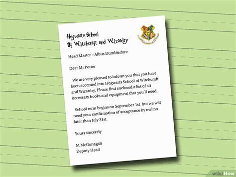 hogwarts brief vorlage englisch c 243 mo escribir una carta de admisi 243 n de harry potter