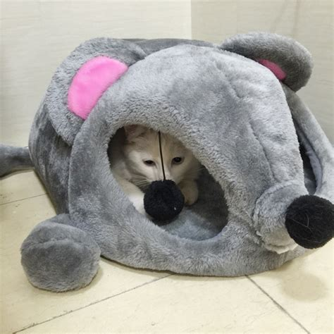 aliexpress buy hoopet grey mouse shape bed for small