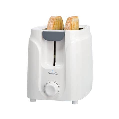 White Toaster Rival 2 Slice Toaster White Walmart