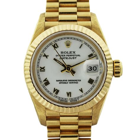 rolex datejust 6917 presidential yellow gold
