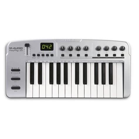 Keyboard M Audio m audio keyrig 25 midi keyboard 25 key midi keyboard from inta audio uk