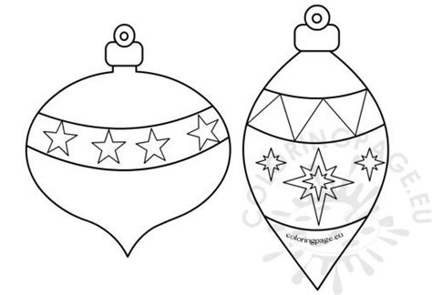 christmas ornament tree to color coloring page