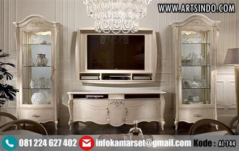 Meja Tv Hias Jual Set Lemari Hias Bufet Meja Tv Klasik Mewah Jepara Terbaru Arts Indo Furniture Jepara