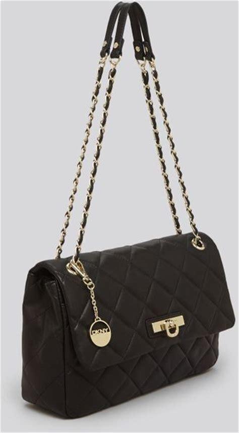 Dkny Black Quilted Handbag by Dkny Shoulder Bag Gansevoort Large Quilted Nappa In Black
