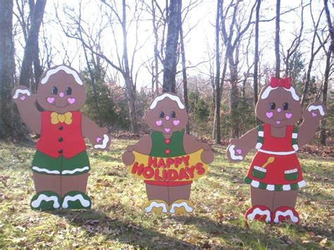 gingerbread family yard art decoration