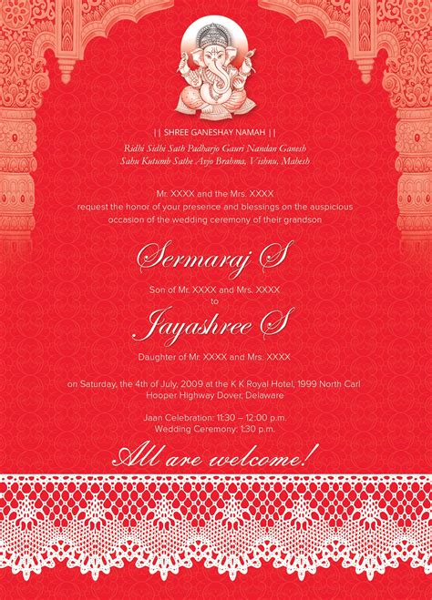 Indian Wedding Cards by Indian Wedding Card 01 3 Colors Invitation Templates