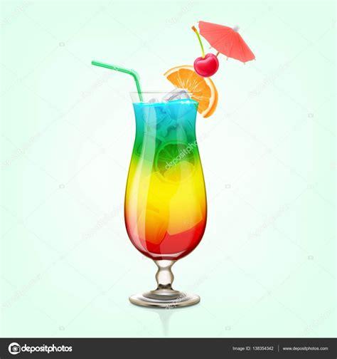 rainbow cocktail rainbow cocktail in the glass stock vector 169 mollicart