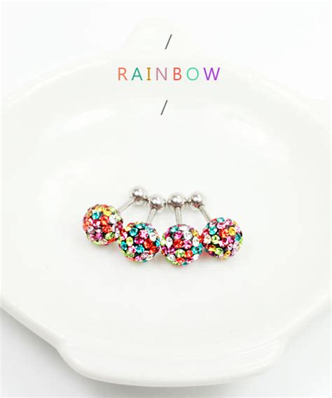 Rainbow Earing Korea 16g 5 16 8mm 3 8 10mm pearl 316l surgical steel horseshoe ring cartilage daith helix