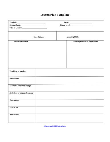 lesson plan template hairdressing laila masood profile tes