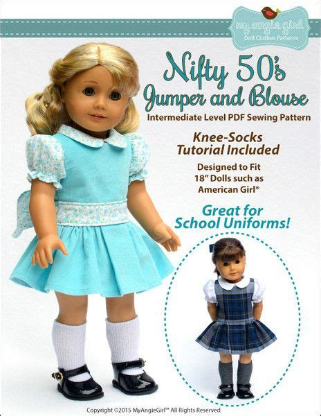 Nifty Blouse nifty 50 s jumper and blouse 18 quot doll clothes patterns