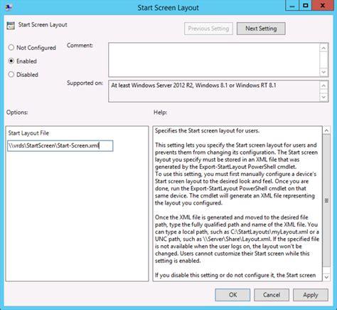start menu layout gpo not working rds custom start menu remove administrative tools