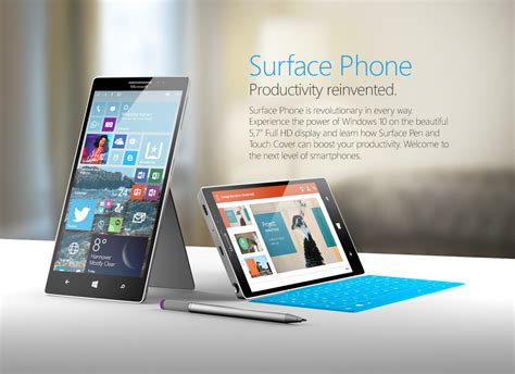 Microsoft Surface Phone surface phone windows 10 version rendered by nadir aslam