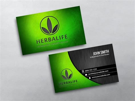 Herbalife Business Cards Templates herbalife business cards