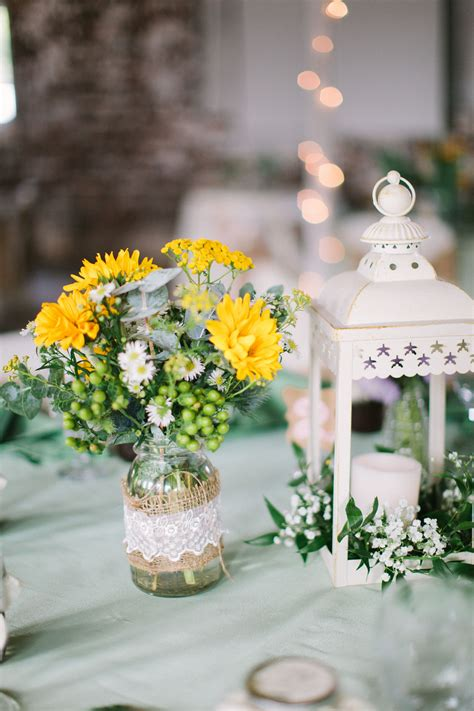 barn reception country wedding centerpieces are