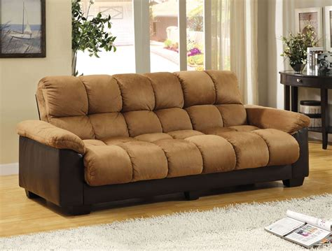 elephant skin sofa brantford tan and espresso elephant skin microfiber futon