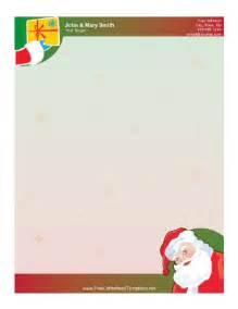 Santa Claus Letterhead Template by Santa Claus And Gift Letterhead