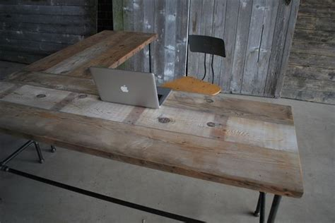 Reclaimed Wood L Shaped Desk L Shaped Reclaimed Wood Desk Modern Office Furniture Wood Doesn T Ship To Australia