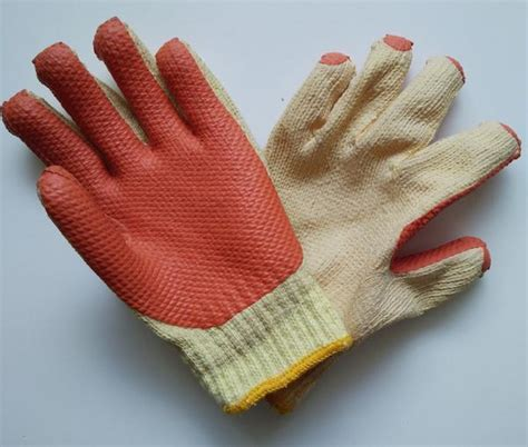 Sarung Tangan Kulit Tebal jual sarung tangan safety rajut benang lapis tebal