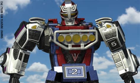 Megazord Turbo Daizyujin Turbo Base Power Ranger turbo megazord rv robo cg 3d model by daizyujin4 on deviantart