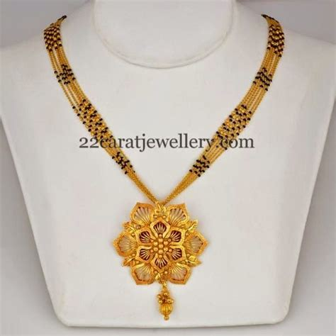 Home Trends And Design Mango by Different Design Black Beads Long Chains Jewellery Designs