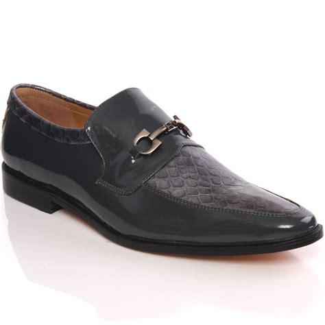 unze mens kande leather slipons dress formal shoes