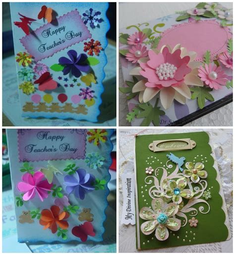 Handmade Birthday Cards For Teachers - beautiful handmade greeting cards designs for teachers day