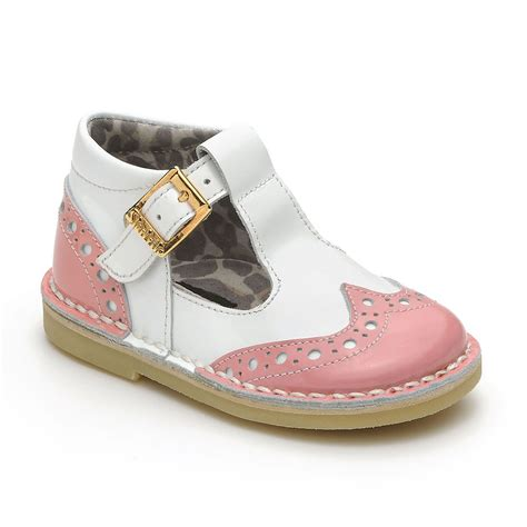 kids shoes fitted childrens footwear by start rite rose marie pink and white leather girl s high back shoe