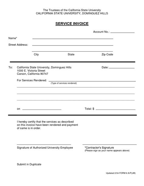 services rendered invoice template free invoice template