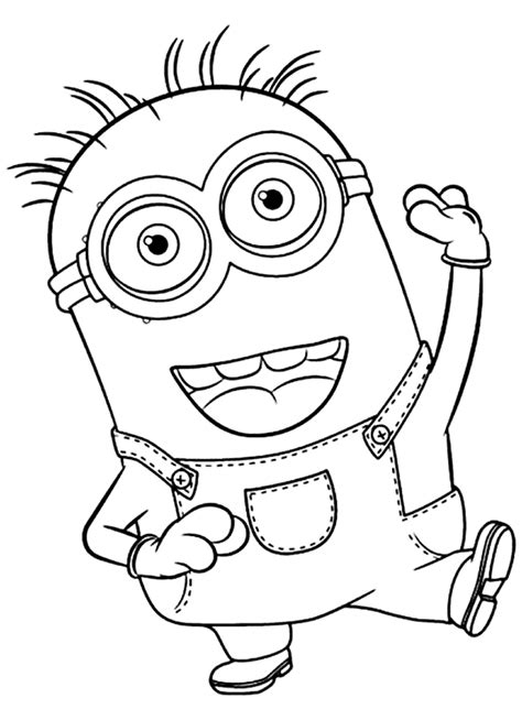 minions coloring pages of phil minions kleurplaten phil