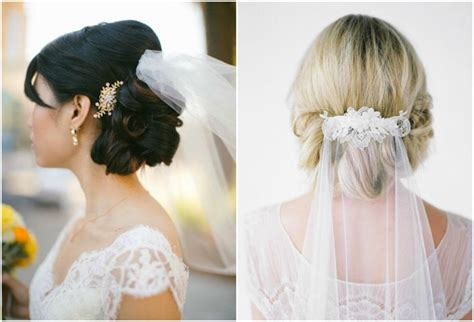 Wedding Hairstyles With Veil On Top by Veil Above Or Below Updo The Knot