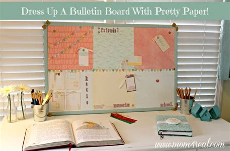 Paper Crafts For Home Decor by Dress Up A Cork Bulletin Board W Dear Lizzy 5th Amp Frolic