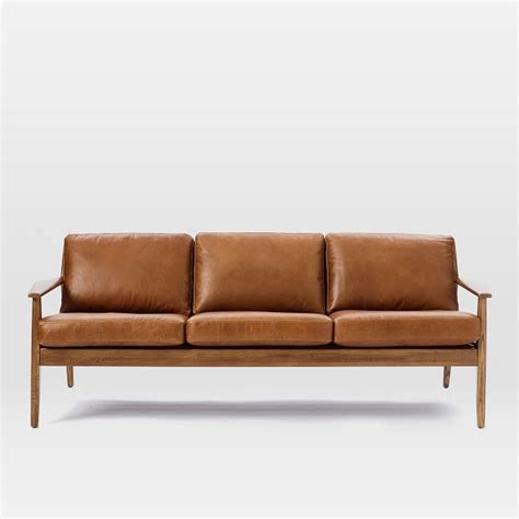 leather sofa with wooden frame mid century wood frame sofa fabulous wood frame sofa with