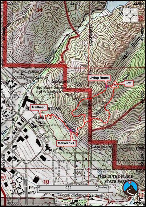 Living Room Hike Map by Hiking The Living Room Salt Lake Road Trip