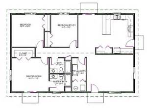 Slab Home Plans H74 Ranch House Plans 1600 Sq Ft Slab 3bdrm 2 Bth
