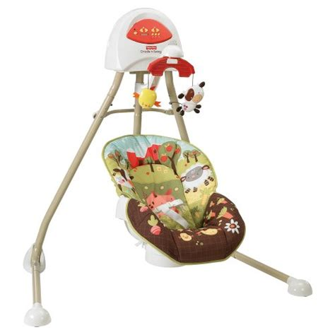 brown baby swing new fisher price baby how now brown cow cradle n swing ebay
