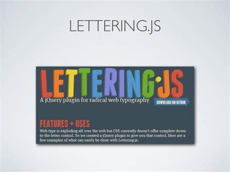 lettering js responsive design