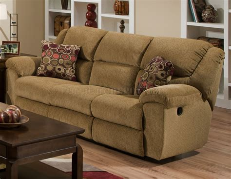 Beige Chenille Fabric Transformer Reclining Sofa Fabric Reclining Sofas And Loveseats