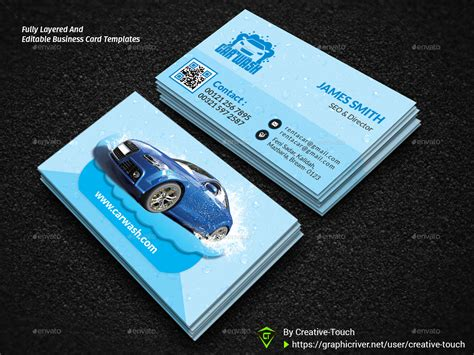car wash business card template psd car wash advertising bundle vol 2 by creative touch