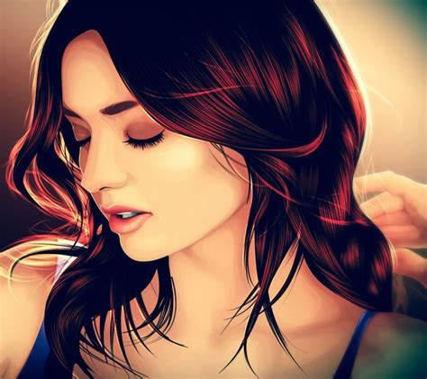 beautiful girl art android wallpapers mobile9 people