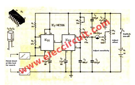 metal detector circuit diagram simple metal detector project