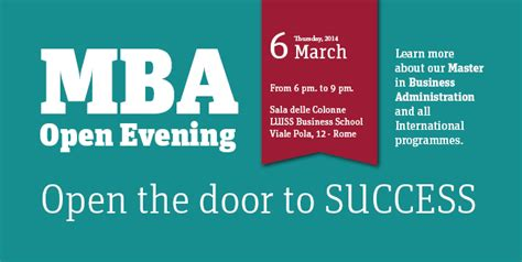 Mba Business Management Open by Mba Masters Open Evening Event Luiss Business School